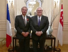 NRF CEO Professor Low Teck Seng receives French honour
